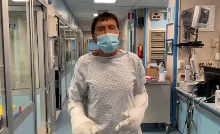Gianni Morandi dopo le ustioni: Sono fortunato
